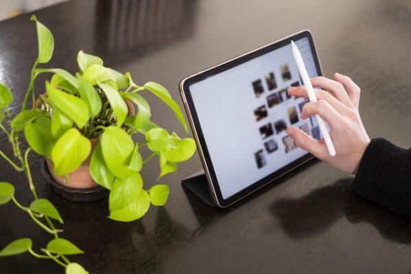 iPadとグリーン